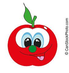 cartoon., rigolote, fruit., vecteur