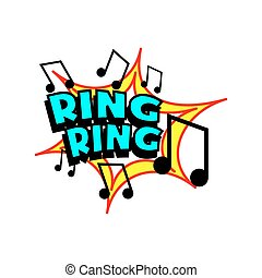 Cartoon Ring Tone - Cartoon ring tone colorful text caption...