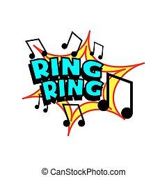 Cartoon Ring Tone - Cartoon ring tone colorful text caption...