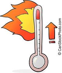 cartoon rising temperature