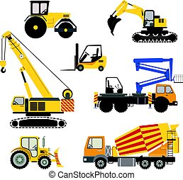 Cartoon road machinery illustration