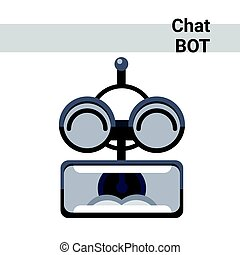 Cartoon Robot Face Screaming Cute Emotion Chat Bot Icon