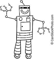 cartoon robot fantasy character color book