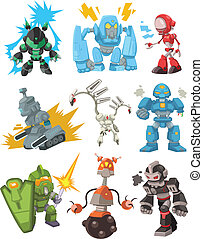 cartoon robots