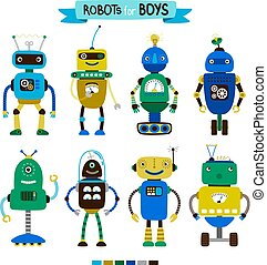 Cartoon robots set for boys