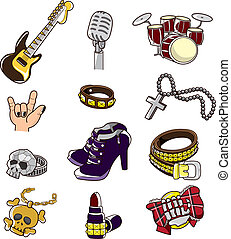 cartoon rock element