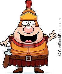 Cartoon Roman Centurion Idea - A cartoon illustration of a...