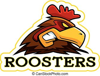 Cartoon Rooster Mascot