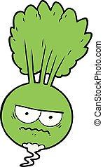 cartoon root vegetable
