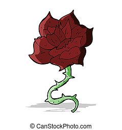 cartoon rose
