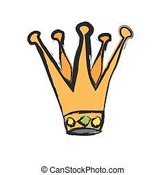 cartoon royal crown, vector