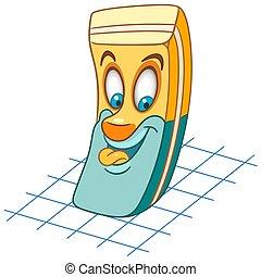 Cartoon rubber eraser tool