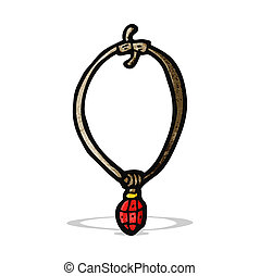 cartoon ruby necklace