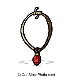 cartoon ruby necklace