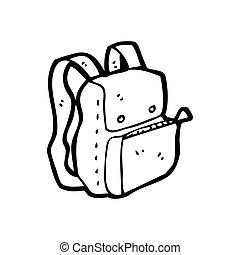 cartoon rucksack