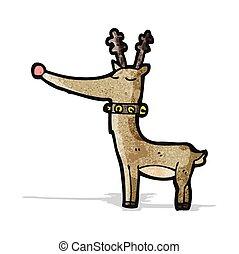 cartoon rudolf red nosed reindeer