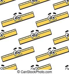 Cartoon ruler seamless pattern
