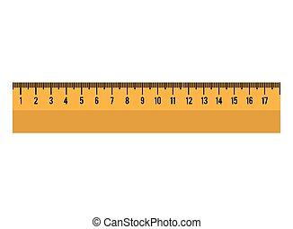 cartoon ruler tool school graphic