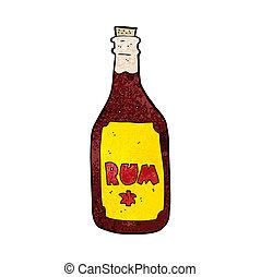 cartoon rum bottle