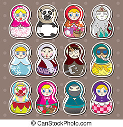 cartoon Russian stickers