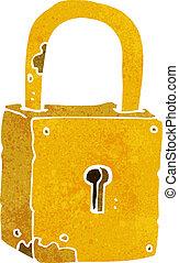 cartoon rusty lock