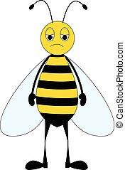 Cartoon sad bee