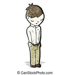 cartoon sad boy