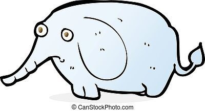 cartoon sad little elephant