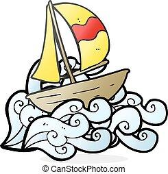 cartoon sail ship