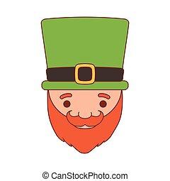 cartoon saint patrick day leprechaun with hat beard