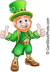 Cartoon Saint Patricks Day Leprechaun - A cartoon Leprechaun...