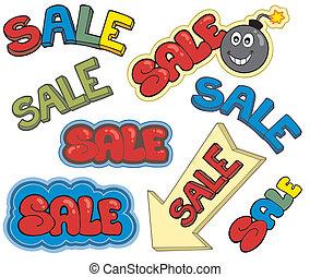 Cartoon sale signs