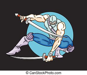 Cartoon Samurai Character
