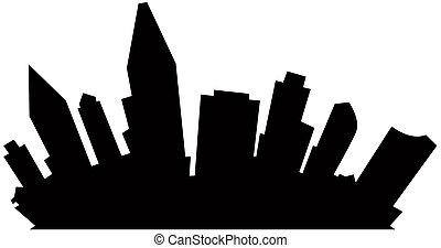 Cartoon San Diego - Cartoon skyline silhouette of San Diego...