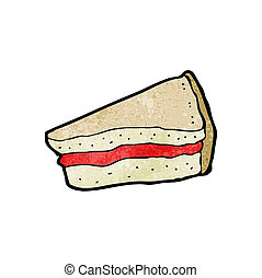 cartoon, sandwich