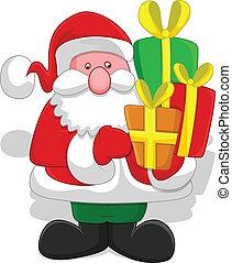 Cartoon Santa Character Vector