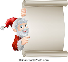 Cartoon Santa Christmas Scroll - Cartoon Santa Christmas ...