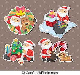cartoon santa claus Christmas stickers
