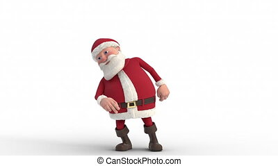 Cartoon Santa Claus dancing - loopable 3d animation