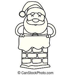 Cartoon santa claus design vector illustration