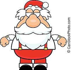 Cartoon Santa Claus Grumpy