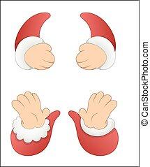 Cartoon Santa Claus Hands