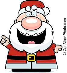 Cartoon Santa Claus Idea - A cartoon illustration of Santa...