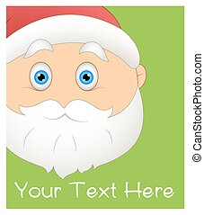 Astound Cartoon Santa Claus Face Expression Vector Illustration