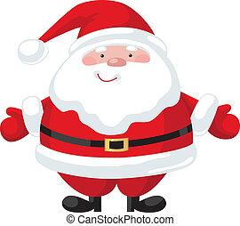 Cartoon Santa Claus - Smiling cartoon Santa Claus character