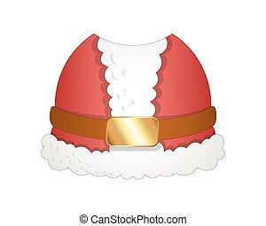 Cartoon Santa Costume Vector