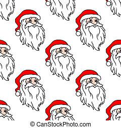 Cartoon Santa seamless pattern