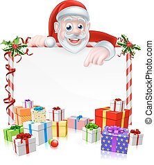 Cartoon Santa Sign