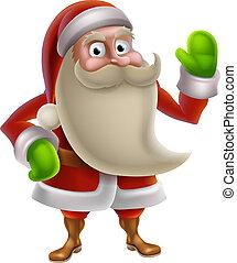 Cartoon Santa Waving