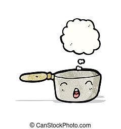 cartoon saucepan